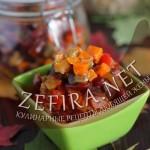 Салат из баклажанов на зиму (с фасолью)