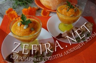 Пюре из тыквы - рецепт с морковью