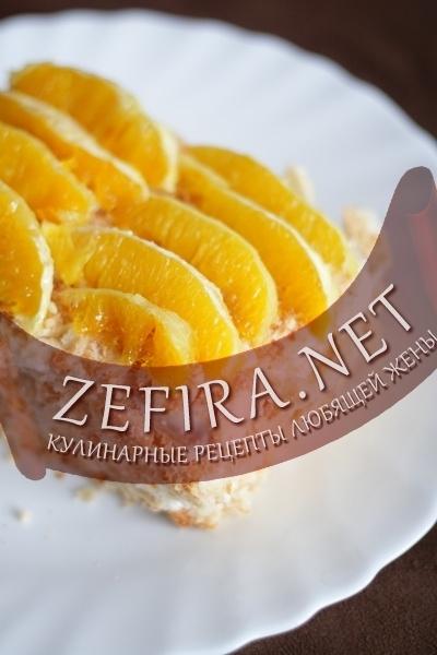Быстрый слоеный торт с апельсинами