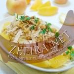 Салат с апельсинами и курицей – вариант с карамелизированными орехами