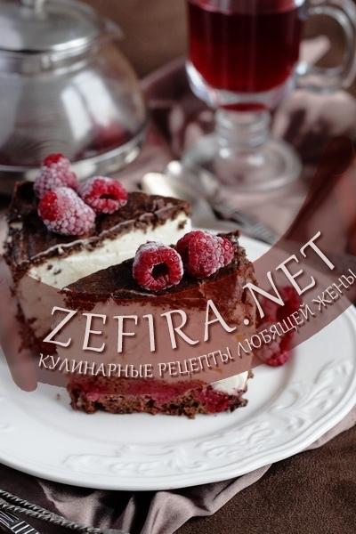 Торт-суфле - рецепт с малиной