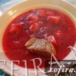 Рецепт борща без зажарки с томатным соком