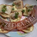 Бутерброды с селедкой «под рюмочку»