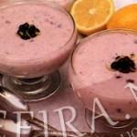 Рецепт чернично-йогуртового желе