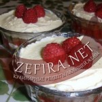 Десерт с малиной – малина со сливками
