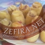 Картофель фаршированный «Бочонки»