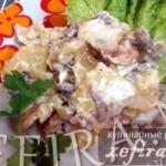 Жареный картофель с грибами — мужской рецепт