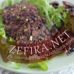 Котлеты из говяжьей печени с гречкой и грибами