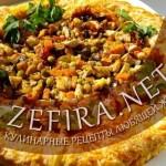 «Золотое кольцо»: овощи с куриным филе и шампиньонами в заварном сырном тесте