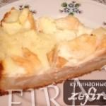 Яблочный пирог-суфле – любимый рецепт яблочного пирога моего мужа