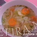 Легкий овощной суп со свежей капустой