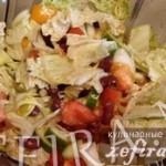 Легкий салат из свежих овощей с фасолью » На диету!»