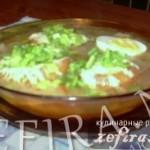 Луковый суп по-французски с крутонами