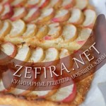 Пирог с персиками и миндальной прослойкой