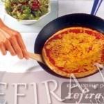 Тесто для пиццы без дрожжей на сковороде
