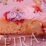 Пирог грушевый со сливой – польский рецепт