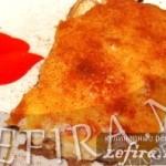 Закусочный пирог из куриной печенки