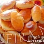 Пирожки пресные с начинкой из капусты