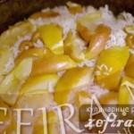 Рецепт фруктового риса с курицей