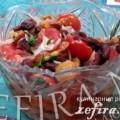 Рецепт салата из фасоли с овощами и опятами «Вкуснятина»