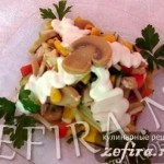 Рецепт салат из курицы с грибами «Английский»
