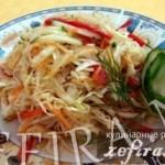 Рецепт салата «Капуста по-корейски»