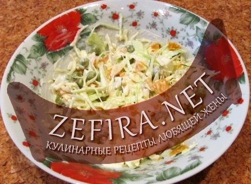 Рецепт салата Нежный