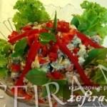 Салат «Хрущевский» с печенью и грибами