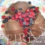 Семейное шоколадное мороженое