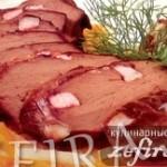 Блюдо из сердца — тушеное говяжье сердце