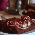 Шоколадный пирог из кабачков с творогом «Волнистый»