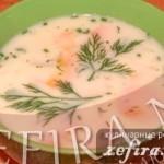Сырный суп с куриной грудкой и рисом