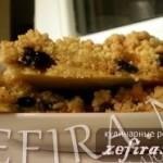 Тёртый пирог с начинкой из джема с изюмом