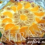 Торт «Экзотика» с желе и фруктами
