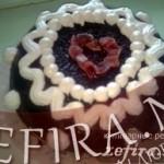 Торт «Шоколадный купол» с бананом и творожным кремом