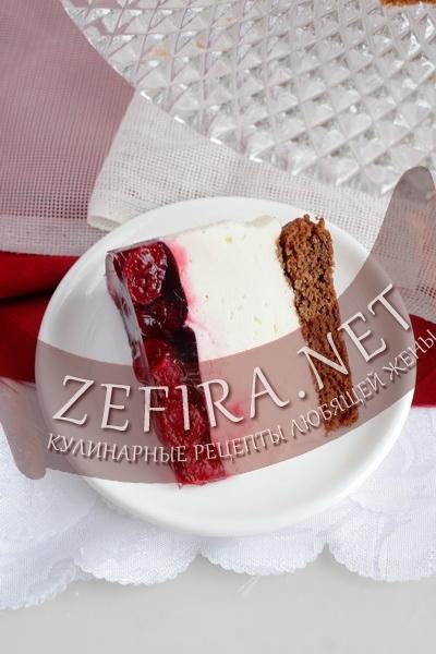 Рецепт торта-суфле с вишней