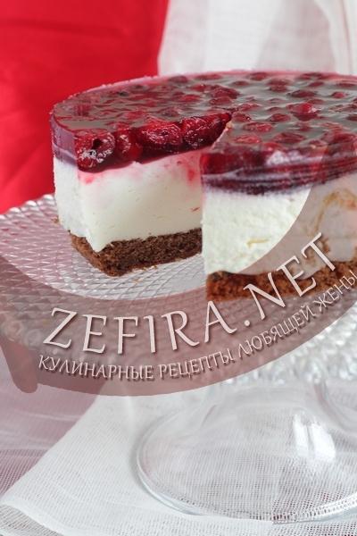 Торта с вишней и суфле