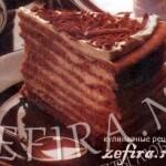 Торт с творожным кремом «Луна»