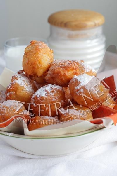 Воздушные пончики на кефире с творогом