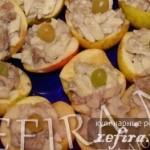 Оригинальная закуска из яблок и сельди