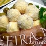 """Рецепт закусочных шариков из сыра """"Рафаэлло"""""""