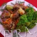 Рецепт куриных желудков с овощами