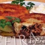 Картофельные зразы с грибами по-белорусски