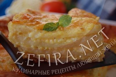 Рецепт картофельной лазаньи