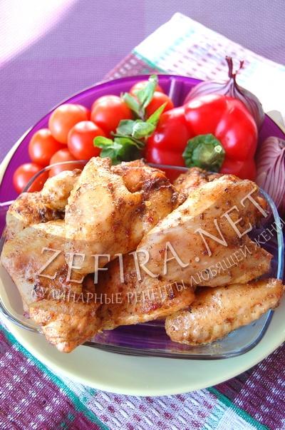 Куриные крылья с медом в духовке