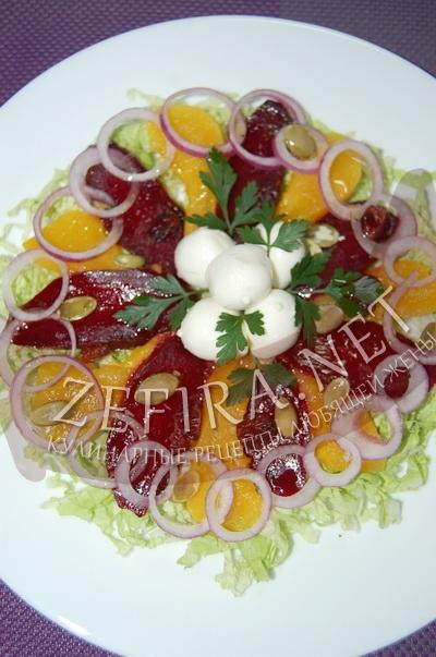 Салат из печеной тыквы