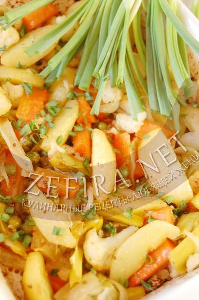 Запеченные в духовке овощи с горчицей