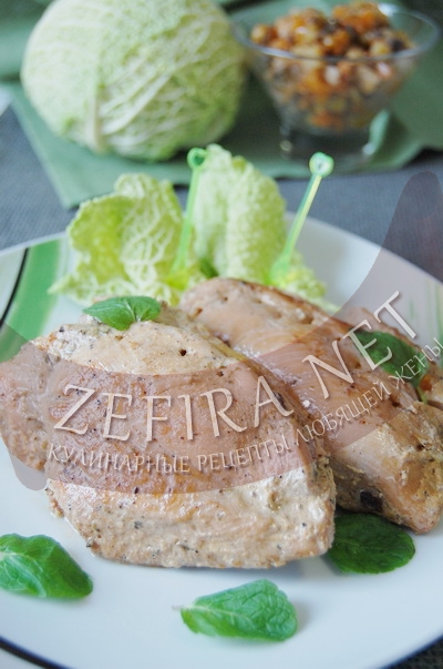 Кармашки из куриной грудки с овощами