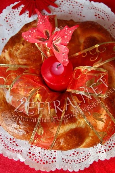 Пирог на Пасху Пасхальный венок - рецепт и фото