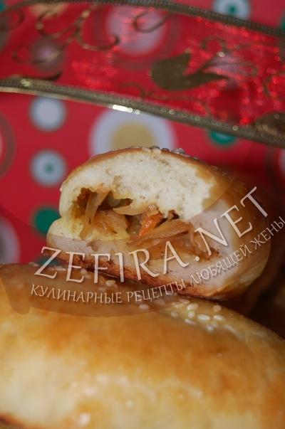 Постное дрожжевое тесто - рецепт пирожков